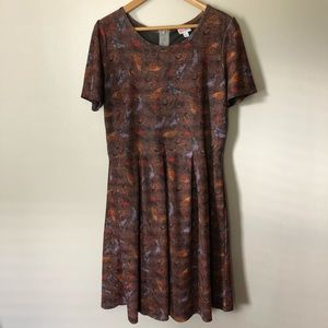 LulaRoe Amelia Dress Bird Print 2XL